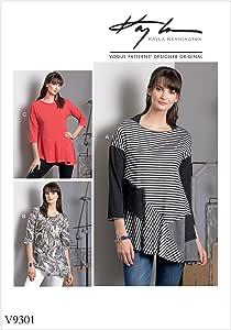 Vogue 图案 9301 Y,女式上衣,尺码 XSM - 中等,涂料,多色,15 x 0.5 x 22 厘米