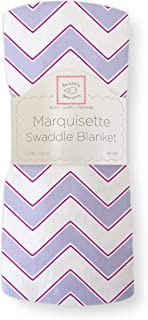 SwaddleDesigns Marquisette 襁褓毯,V 形图案 紫色(Lavender) 46 by 46 inches
