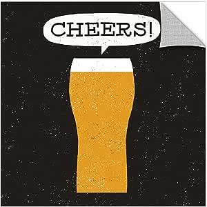 "Tremont Hill Michael Mullan ""Craft Beer Cheers""可移除壁挂艺术壁画 黄色 36X36"" 2mul042a3636p"