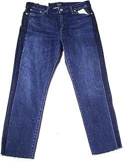 Lauren Ralph Lauren 女士中腰水洗直筒牛仔褲 藍色 6