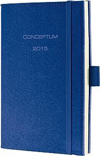 Sigel 2015周日历,设计毛毡,约 A6,软盖,CONCEPTUM 蓝色
