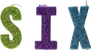 Glittered Birthday Pick 蜡烛套装 - SIX