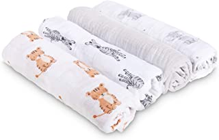 4 件装迪士尼婴儿襁褓毯