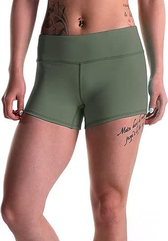Tough Mode 女式 7.62 厘米压缩 WOD 运动短裤瑜伽排球交叉训练跑步 MMA Active Booty 黑色 红色 蓝色 * 军* Large