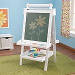 美国KidKraft双面可升降木质画板-白色  儿童家用木制画架小黑板写字板