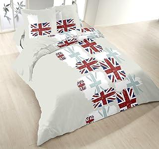 Home Passion London 53487 床上用品套装 羽绒被套 220 x 240 厘米 – 多色
