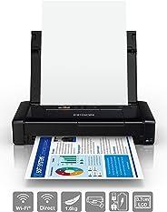 Epson 爱普生 WorkForce WF-110W 便携式喷墨打印机(DIN A4,WiFi 直连,移动打印,USB,内置电池,重量仅1.6千克)黑色C11CH25401 打印机 1