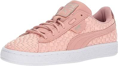 PUMA 彪马 女式篮子 Satin En Pointe WN运动鞋 桃红色 米色 白色 5.5