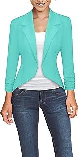 混合 & Company 女式休闲工作办公高低外套夹克  1073t-mint Medium