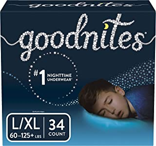 Goodnites 男童睡裤 Large/Extra Large 34