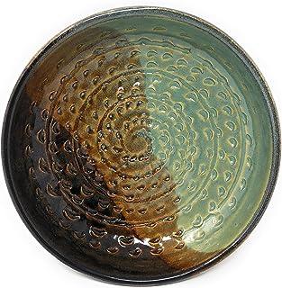Holman Pottery Garlic Grater 浸泡碗组合 Green Earth