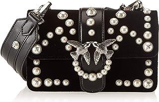 Pinko 女士迷你爱天鹅绒珍珠 C/Spallaccio Velluto+perle 单肩包