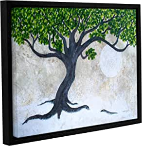 """ArtWall Herb Dickinson's An Absract Tree Captured in The Moonight Gallery Wrapped Floater Framed Canvas, 18 x 24"""""""