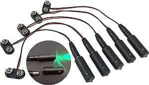 5 件装* LED 9 伏电池供电微效灯,适合风景道具和型号