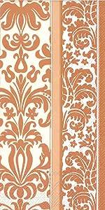 Ideal Home Range 16 Count Banquet Napkins, Velvet Copper