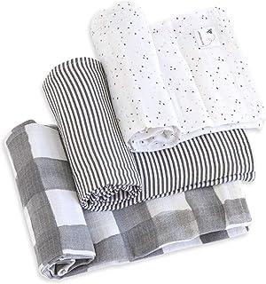 Burt's Bees 伯特的小蜜蜂婴儿棉毯,3 件套针织*棉毯 Zone Little Lux 椅子和沙发,儿童房内装式家具,蓝色 Starry Eyes 均码