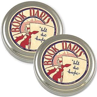 書飛鏢線書標記包 – 黃銅和青銅書簽 - 2 個錫罐罐(每包 125 個)