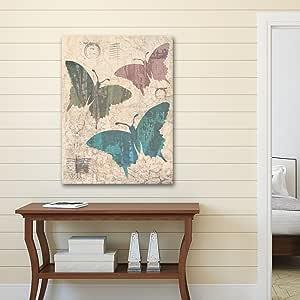 """组合帆布装饰油画印刷墙壁艺术 - IHD Studio 的""""Butterflies Redux"""" 22x28 NCF4547"""
