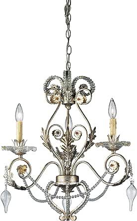 Eurofase 14442-018 Allure 3 灯吊灯,古银/水晶