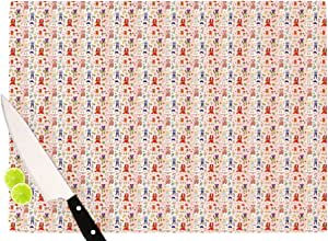 "Kess InHouse Holly Helgeson""小姐红""切割板,粉色 粉红色 11.5 by 15.75-Inch HH1013ACB02"