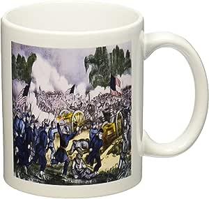 3dRose mug_183684_1 Print of Painting of Battle of Gettysburg Civil War Ceramic Mug, 11-Ounce