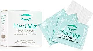 眼睑清洁湿巾 - Mediviz,去角质,纯净,低*性,有助于避免结壳的睫毛,眼皮肿块,眼部*,Demodex 螨,堵塞的同型* stye-treatment blepharitis-treatment eyelid-scrub SINGLE BOX