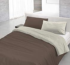 意大利8058575000019床亞麻套裝被套和枕套帶 bag-plain 雙面100% 棉質