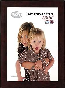 Inov8 相框,塑料,青铜色,50.80 x 40.64 cm,一包 2_P Walnut Gloss Pack of 2 PFE-WAGL-2016