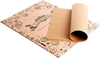 LaGrange 未漂白羊皮纸烘焙板 -(100 件)- 预切 30.48 x 40.64 厘米,完美适合床单平底锅-不粘 - 防油 - 高温烘焙 - 易于储存和使用 天然棕色 8541885304