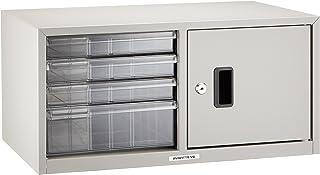 Nakabayashi ApanteV2 信箱 A4 浅3深1层・带门・带钥匙・竖型 New 灰色