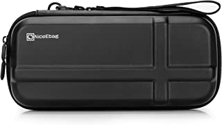NiceEbag Best EVA Nintendo 任天堂开关旅行箱控制台保护储物袋防震开关整理袋硬质便携袋,带 12 个内置游戏卡槽,黑色