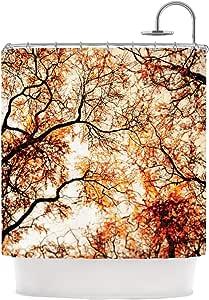"""Kess InHouse Bree Madden""""火树""""浴帘,175.26 x 177.80 厘米"""