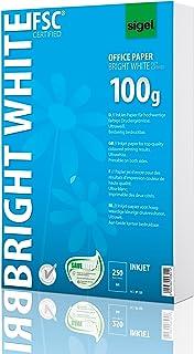 Sigel IP125 喷墨纸,亮白,超薄,双面打印,100克 250 Blatt Standardverpackung 250 Blatt