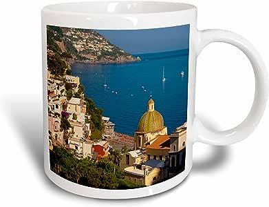 3drose danita delimont–意大利–amalfi 海岸, hillside OF POSITANO , campania ,意大利–EU 16bjn0038–brian jannsen–马克杯 白色 15-oz