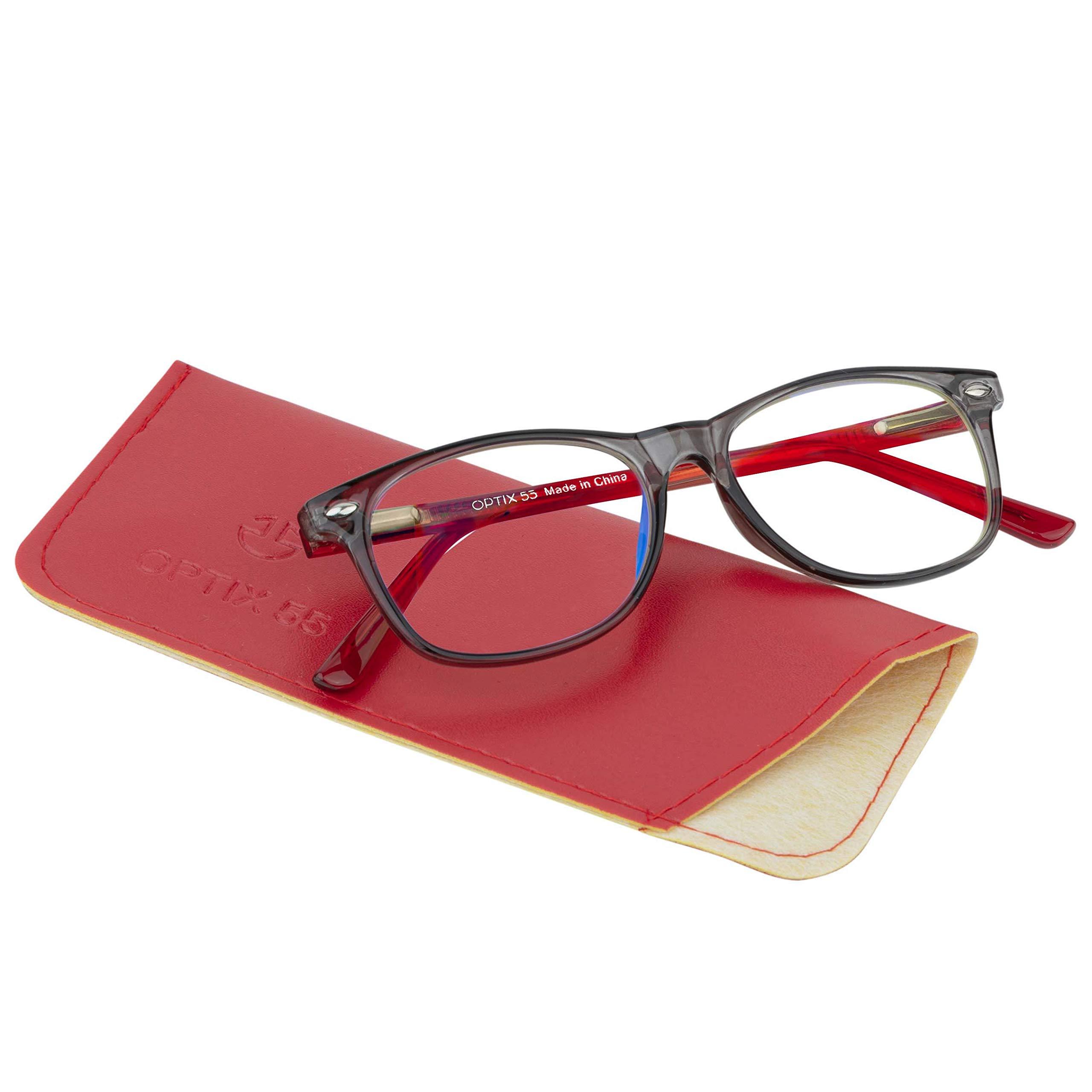 儿童蓝色防光眼镜  防*儿童电脑眼镜 – 电脑视频游戏,智能手机屏幕男女通用眼镜(3-10 岁) 柔韧、牢固的方形眼镜。