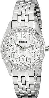 Citizen 女士 ED8130-51A 模拟显示日本石英银色手表