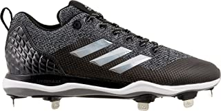 adidas Men's Poweralley 5 Metal Baseball Cleats (Grey/Black, 13 D (M) US)