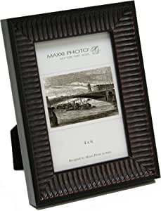 """Maxxi Designs Photo Frame with Easel Back, 5 x 7"""", Antique Mahogany Solid Wood Casa Bella"""