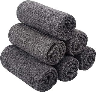 Sinland 超细纤维华夫格编织厨房餐具布干燥清洁布 33.02 厘米 x 33.02 厘米 13Inchx13 Inch 6pack