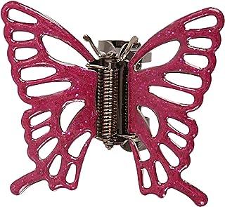 Caravan 粉色搪瓷手工装饰金属蝴蝶爪