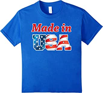 Zany Brainy: Made in USA | Patriotic T-shirt 皇室蓝 Kids 10