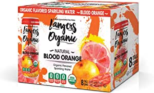 Langers Organic Flavored Sparkling Water, Blood Orange, 12 Ounce (Pack of 8)