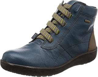 [ACILESSOLBO] 日本产 真皮 防水 Gore-TEX 短靴 SRL 2850 女士 3E ASILESS SORBO ネイビー/ストーン 23.5 cm 3E