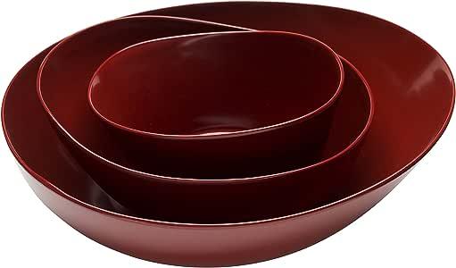 "Zak Designs Moso 3 件套餐碗套装 砖红色 12.1"" by 11.3"" COMINHKPR130838"