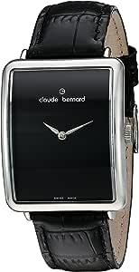 Claude Bernard 女士 21175 3P N 女士时尚模拟显示屏瑞士石英黑色手表