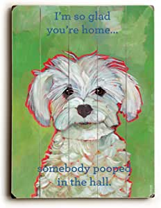 "ArteHouse I'm So Glad You're Home-Planked 木质墙饰 Ursula Dodge 出品 25"" x 34"" 0004-3916-31"