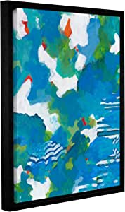 "ArtWall Jan Weiss's Medium Blue Gallery Wrapped Floater-Framed Canvas, 24"" x 32"""