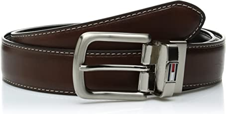 Tommy Hilfiger 汤米·希尔费格 男式 皮革两面腰带