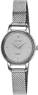 Citizen 西铁城 女式日本石英不锈钢表带 银色 10 休闲手表 (型号:EZ7000-50A)