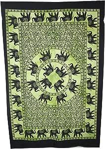 道德手工海报 树生命之树海报,生命之树印度嬉皮纸巾 绿色 30x229 HDMP203